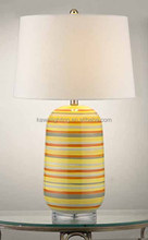 2015 hot crystal base and Glass body guest room table lamp CE ROHS UL CUL ETL