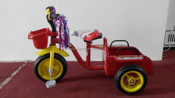 Children's tricycle with iron dump