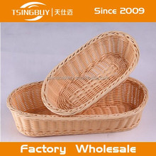 2015 hot selling artisan 100% woven plastic washable rattan storage baskets home goods