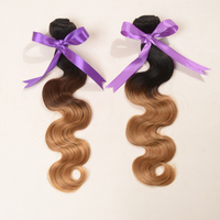 """Best Selling Products Body Wave Ombre Peruvian Human Hair Weaves 10""""-30"""" Factory Price Ombre Hair Extensions Tangle Free"""