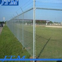 JTM-Alibaba china Perimeter fence/Chain link fence top barbed wire/cyclone fence