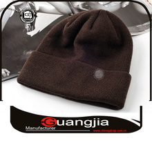 Guangzhou high quality various color winter men knitted cap pattern