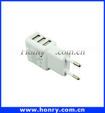 Good Quality EU Plug 3 Ports 5V 3.1A USB Wall Charger For Samsung Galaxy S4