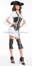 Adult Mens Ladies Buccaneer Caribbean Ship Mate Pirate Fancy Dress New Costume