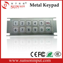 SNK097B 12 keys metal keypad