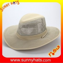 100% Acrylic Summer Detachable Sun Protection Outdoor Fishing Flat Hat