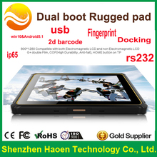 android rugged barcode 8 Inch WindowsTablet iso14443 iso7816 IP67 Windows 8.1 OEM 2g ram windows/android tablet fingerprint