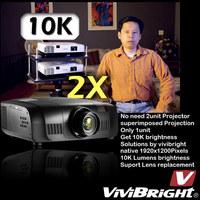 10000lumens outdoor laser projector 3D digital WiFi 4k projector shooting game PRWU8600 WUXGA 1920*1200P cheap 3d projector