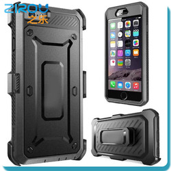 Hot new products for 2015 beatle pattern mobile phone case for iphone 6+ hybrid case with belt clip kickstand