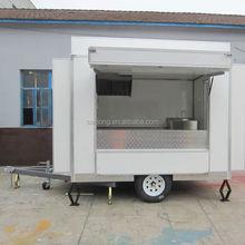 Outdoor street mobile Catering Vans/ hot dog vending carts/ mobile kitchen van design