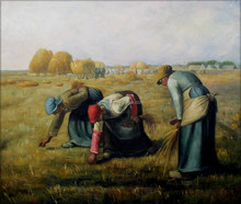 Reproduction painting Jean Millet the Gleaners