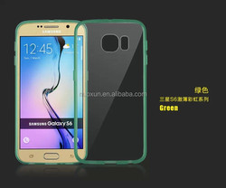 0.8mm transparent clear back cover for smart phone Samsung galaxy S6