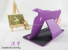 Mobile Phone Cover Hot Setting Leather Folio Case for Samsung N9100 Note 4 with Standing Function