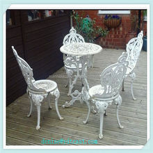 popular white cast iron patio furniture/table and chair