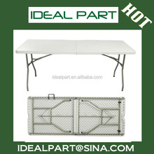 Different size (6-Foot Fold-in-half Table) plastic folding table
