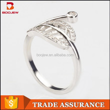 High quality ladies 925 silver long finger ring