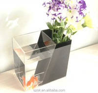 high quality clear acrylic fashion design square desktop fish tank wholesale