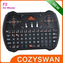 mini wireless keyboard F2 with touchpad for smart tv box