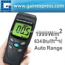 Digital Solar Power Meter BTU W/M2 Radiation Energy Cell Tester (Made in Taiwan)