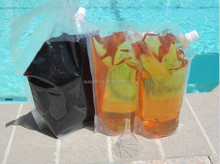 Small/medium/large sizeplastic flasks spout bag