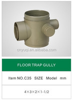 PVC FLOOR TRAP GULLY/PVC FITTING FOR WATER DRAINAGE