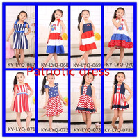 2015 wholesale children's boutique clothing,kids patriotic dress,girls 4th of july