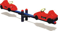 Outdoor playground christmas seesaw