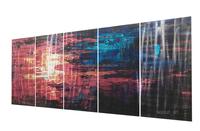 Newest Modern Handmade 3D Metal Wall Art Orginal Wall Painting Hanging Easily