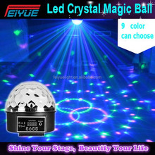 High Power Rgb Color Mixing 3x1w Led Magic Crystal Ball Disco Ball For Sale