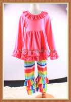 children summer clothes pictures colorful pants ruffle desi girls legging set winter comfortable kids clothes cheap store sets