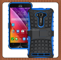 For ASUS Zenfone 2 Laser ZE550KL High Quality Hybrid Kickstand Rugged Rubber Armor Hard PC+TPU Stand Function Cover Case