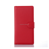 cellphone PU leather wallet protector case flip cover for sony xperia m