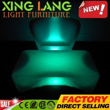 rechargeable house hold PE plastic RGB color change waterproof LED gaming desk for office
