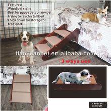 escaleras de madera para mascotas