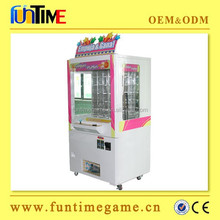 Hot and popular amusement coin and bill operated prize vending game machine