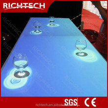 Custom size LED and inexpensive interactive bar table modern bar counter