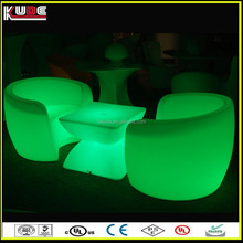 remote control wireless design plastic sofa funriture with LED lights