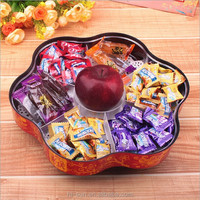 Hot sale fashion creative Plastic box Household articles six grid clear Dried fruit boxes fruit plate Snack Candy Box