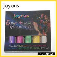 2014 mejor venta de moda pelo bigen temporal del tinte para el cabello de color tiza tintes de cabello natural hd-s0502