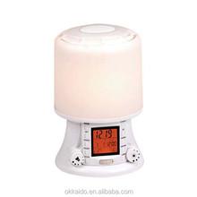 Okkaido factory sound and light alarm wake up light with FM radio