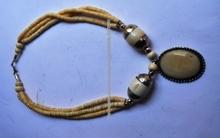 Perlas collar tibetano, , Hecho de mano en Nepal,, Malas de Nepal,Collar de ámbar