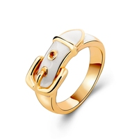 Fashion Gold Ring Buckle Look With Epoxy