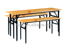 2015 Novelty Cheap Dining and Study Folding Table with Metal Leg and Wheels