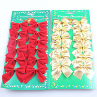 Wholesale Christmas items Christmas Decoration decorative artificial butterfly know for chrismtas tree christmas butterfly knot