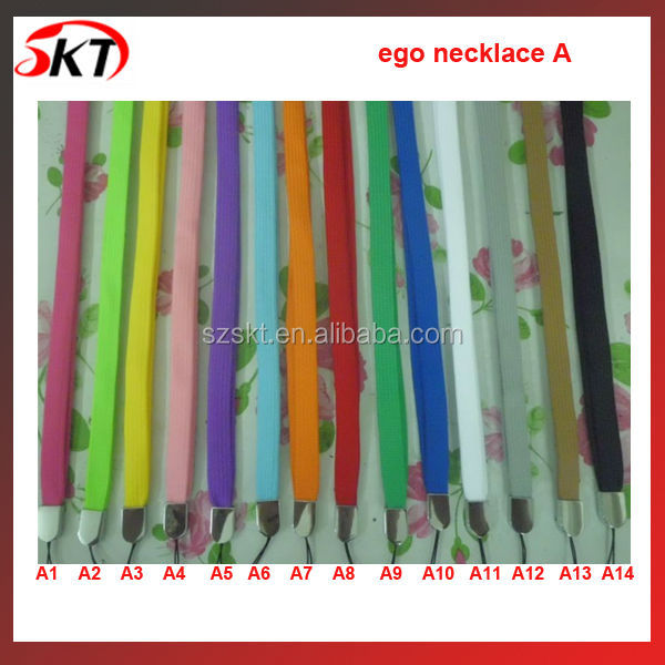 Colorful ego leather bag for electronic cigarette, e-cigarette lanyard ego pouch top sell on SKT