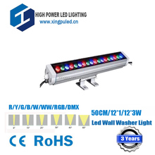 High Quality 50cm led wall washer light 12W led rgb, remoter control rgb light 230 volt IP67