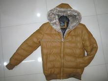 2015 online wholesale shop stocklot jacket with fur hood