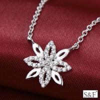 FB098 Rhodium plated 925 sterling silver gemstone jewelry