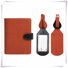 Modern Prints and Patterns RFID Blocking Passport Case with Pen Holder and 2 Matching Luggage Tags