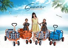New Design 4 Wheels Metal Home Use/ Supermarket/ Children Camp Portable Foldable Trolley